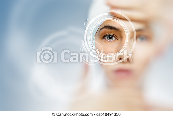 saudável, olhos - csp18494356