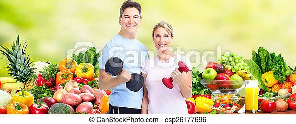 saudável, par., condicão física - csp26177696