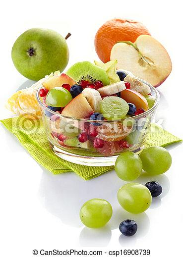 saudável, salada fresca fruta - csp16908739