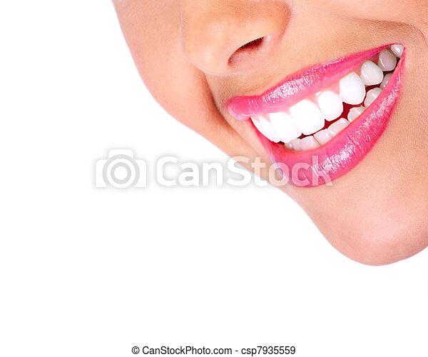 saudável, sorrizo, teeth. - csp7935559