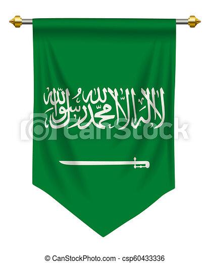 Saudi Arabia Pennant - csp60433336