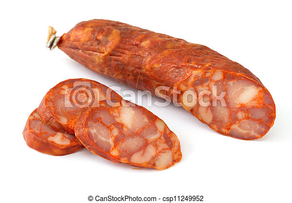 sausage on white background - csp11249952
