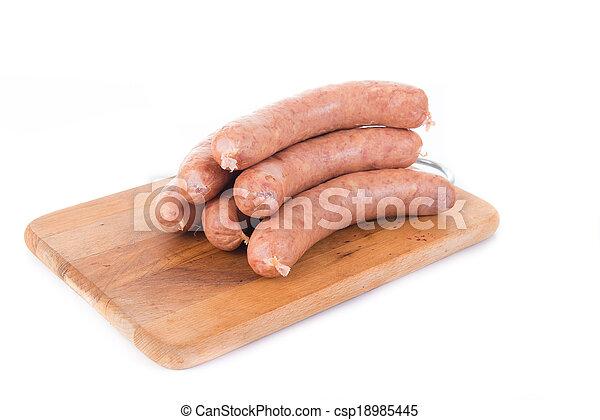 sausage on white background - csp18985445
