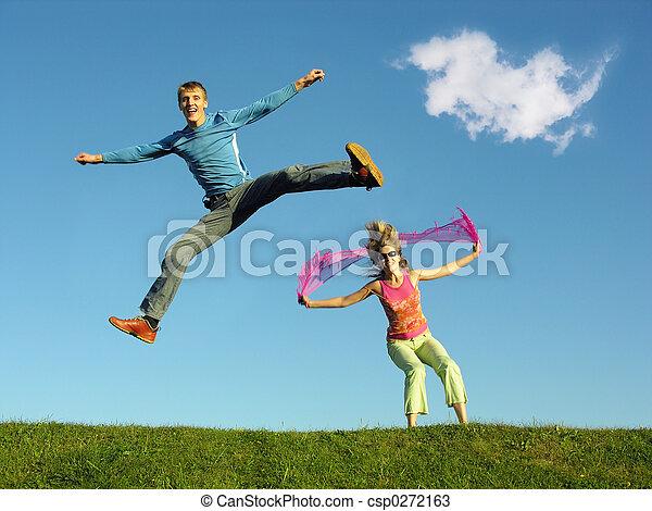saut, couple, sous, cl - csp0272163