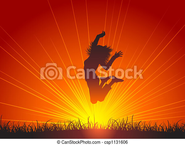 saut, joie - csp1131606