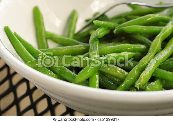 sauteed, feijões verdes - csp1399817