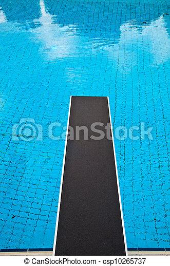 Sauter planche piscine natation bleu sauter carrel for Planche piscine