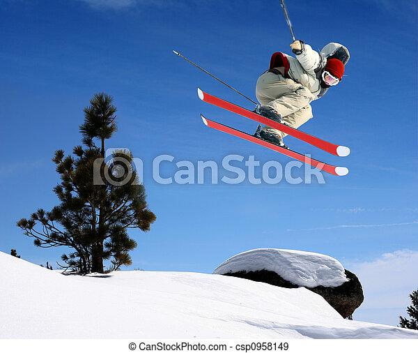 sauter, skieur - csp0958149