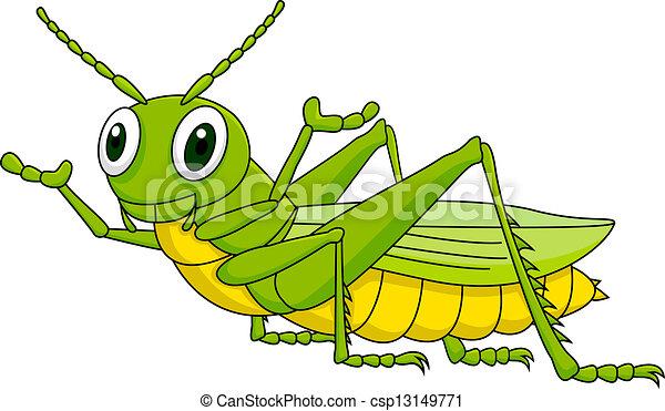 Vecteur sauterelle vert dessin anim illustration - Sauterelle dessin ...