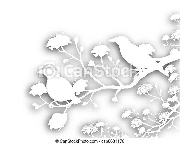 sauvage, coupure, oiseaux - csp6631176