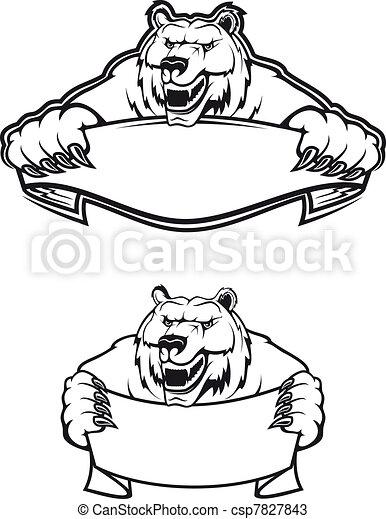 Sauvage kodiak portent isol ours kodiak fond for Portent en espanol