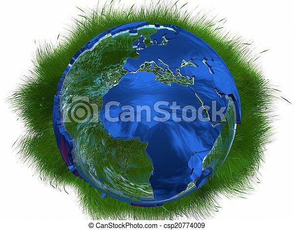 sauvage, la terre, herbes - csp20774009