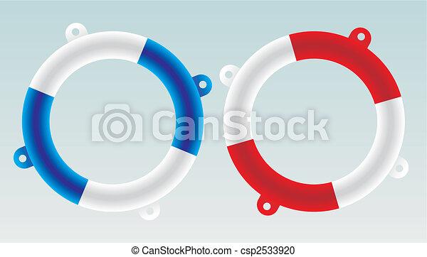 sauveteur, vecteur, -, bateau - csp2533920