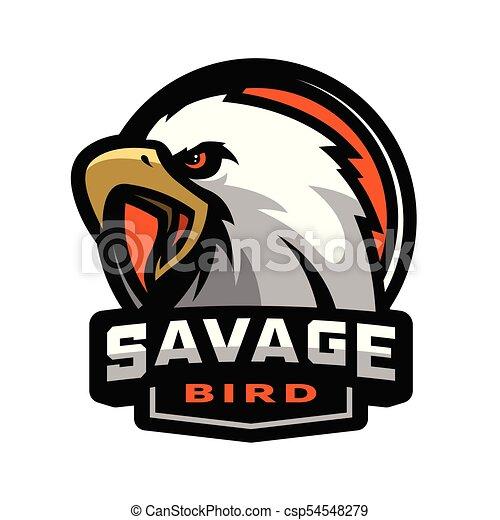 Savage Bird Eagle Sports Logo Vector Illustration
