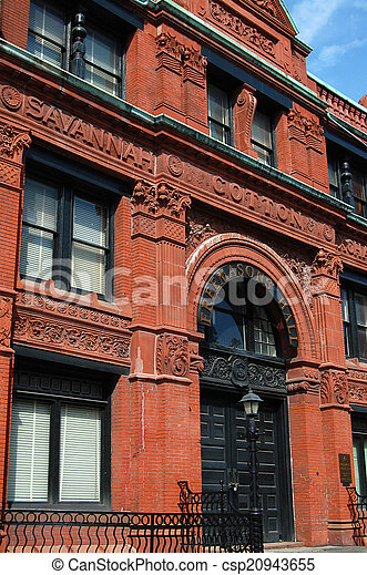 Savannah Cotton Exchange building - csp20943655
