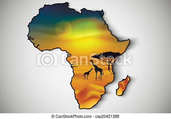 savannah, fauna, flora, áfrica - csp20421388