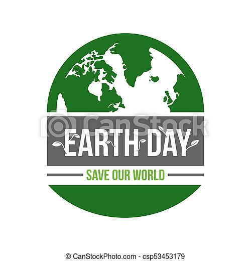 Save Download Preview Happy Earth Day Logo Designhalf Earth Globe