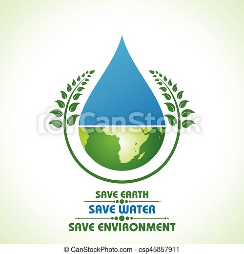 save earth water and environment concept stock vector