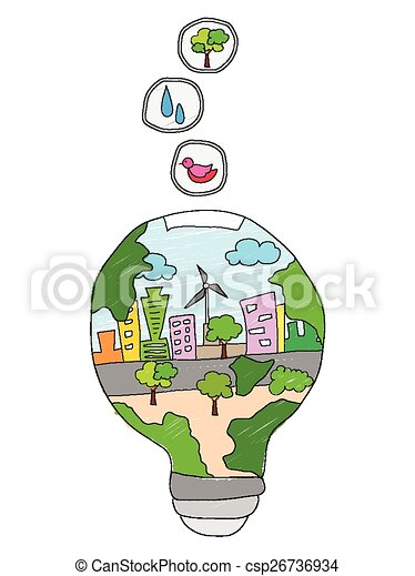 Save energy concept illustration of save energy concept for Save energy painting