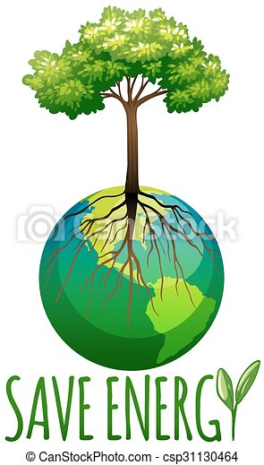 save energy theme with earth and tree illustration clip art vector rh canstockphoto com energy clipart images energy clipart animations