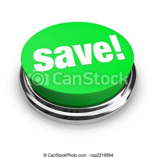 Save - Green Button - csp2216894