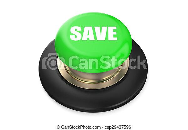 Save Green button - csp29437596