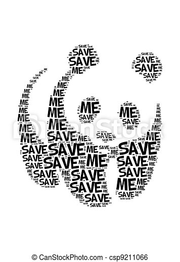 save me panda text graphic and arrangement concept