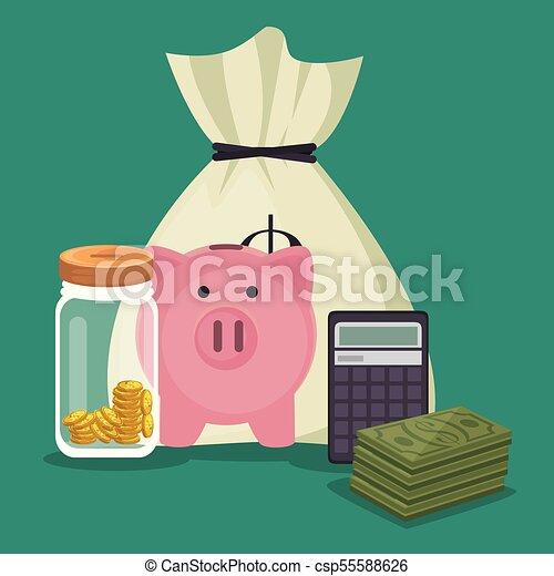 save money concept - csp55588626