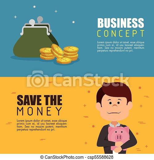 save money concept - csp55588628
