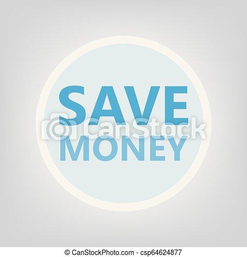 save money concept - csp64624877