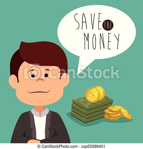 save money concept - csp55589401