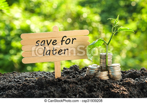 save money for investment concept - csp31939208