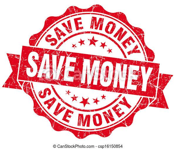 Save Money Grunge Stamp - csp16150854