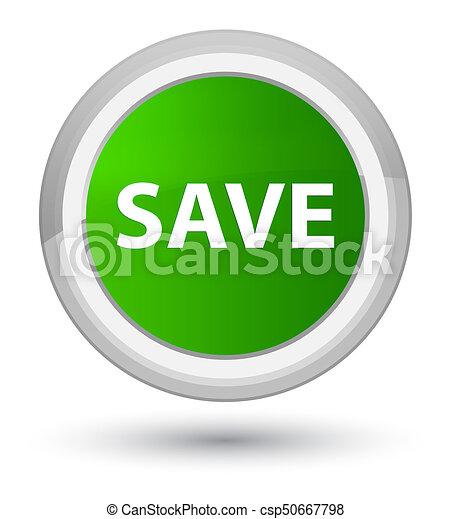 Save prime green round button - csp50667798