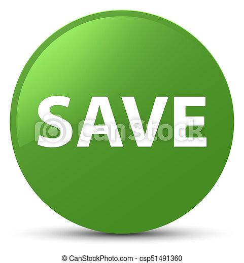 Save soft green round button - csp51491360