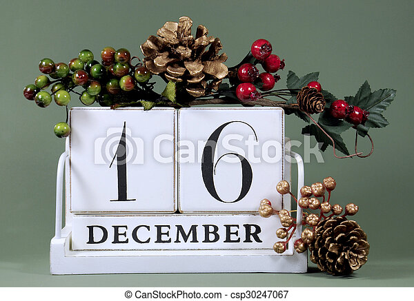 save the date calendar with winter theme colors fruit and flowers