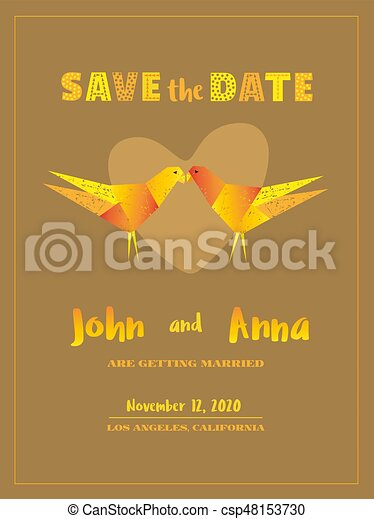 Save The Date Card Template Marriage Invitation Card With