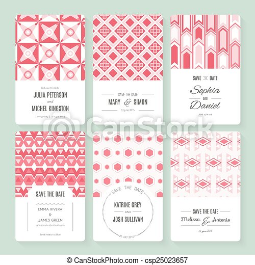 Save The Date Collection Set Of Perfect Vector Card Templates