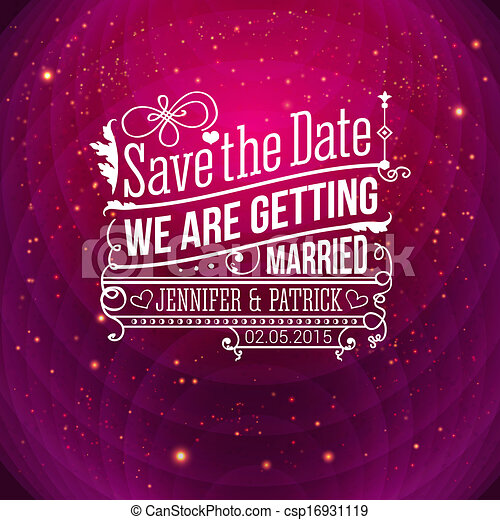Save the date for personal holiday wedding invitation vector i save the date for personal holiday wedding invitation vector i stopboris Choice Image