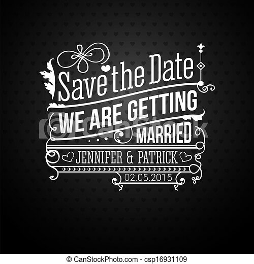 Save the date for personal holiday wedding invitation vector save the date for personal holiday wedding invitation vector i stopboris Images