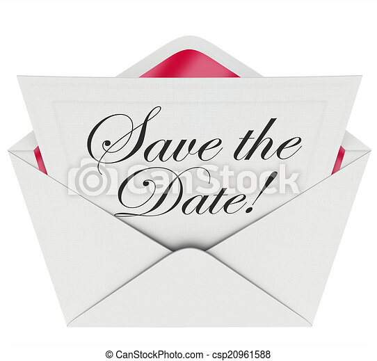 save the date invitation party meeting event envelope schedule csp20961588