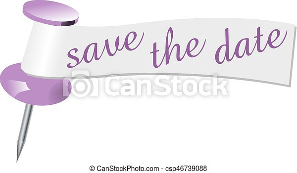 Save the date pin - csp46739088