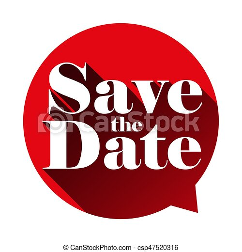 save the date sign speech bubble vector rh canstockphoto ca save the date clipart free download