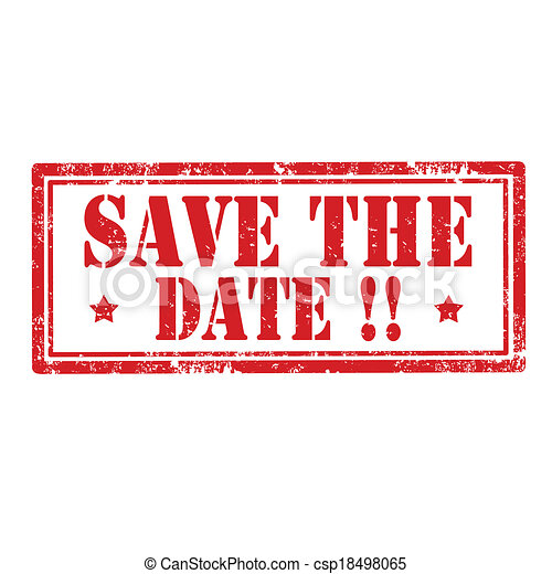 save the date stamp grunge rubber stamp with text save the date
