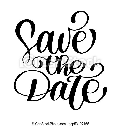 save the date text calligraphy vector lettering for wedding clip rh canstockphoto ca save the date clipart images save the date clip art graphics svg