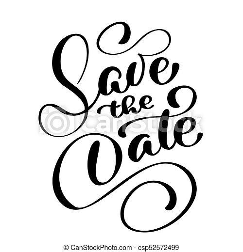 save the date text calligraphy vector lettering for wedding eps rh canstockphoto com save the date clip art christmas clipart save the date