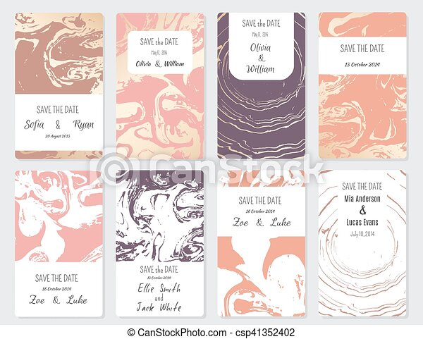 Save The Date Vector Set Of Card Templates Perfect For Save The