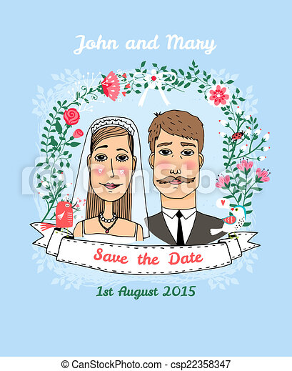 Save the date wedding invitation. Save the date vector wedding ...