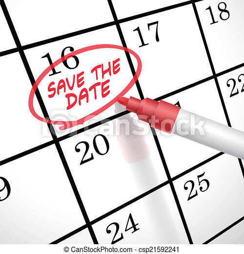 save the date words circle marked on a calendar by a red pen eps rh canstockphoto com vector calendario 2017 vector calendar 2016