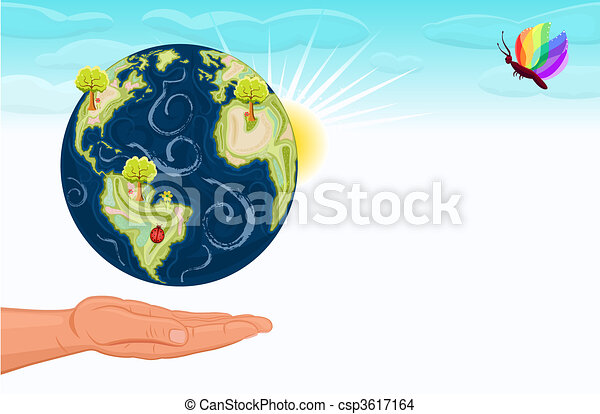 Save The Earth Our Green Planet Save Earth Human Hand Offering